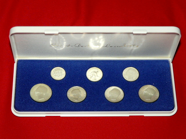 Set of Luxembourg francs of silver 1980 Edition 3000 series