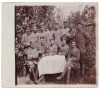 1914-1918 German soldiers sitting at the table Cellofix Postkart