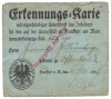 1919 Erkennungskarte university of Frankfurt am Main Germany Idn