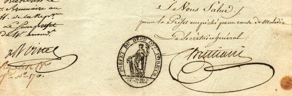 Diekirch Luxembourg J.B. Lacoste Napoleon I Départements des For