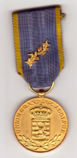 Luxembourg Union Grand-Duc Adolphe Médaille UGDA Chor Associatio