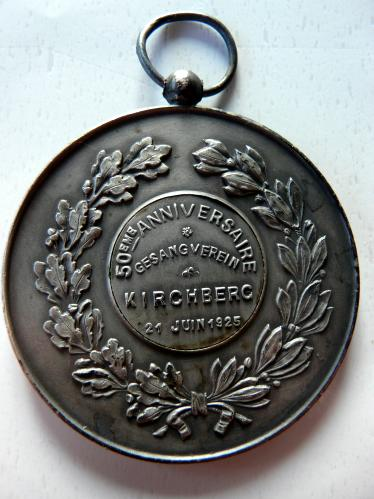 Kirchberg Luxembourg 1925 Gesangverein Médaille Choral Society M