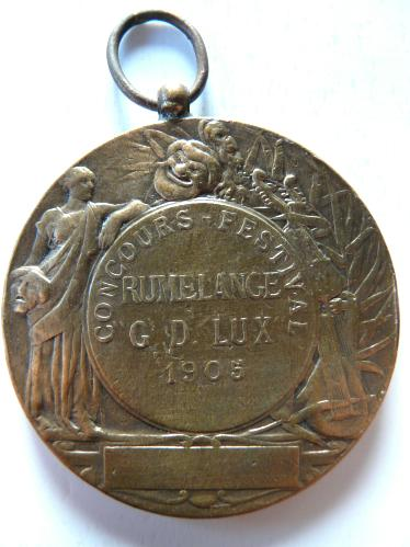 Rumelange Luxembourg 1905 Concours Festival Médaille Medaille Me
