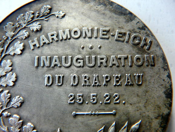 Eich Luxembourg 1922 Medal Harmonie drapeau Medaille Luxemburg