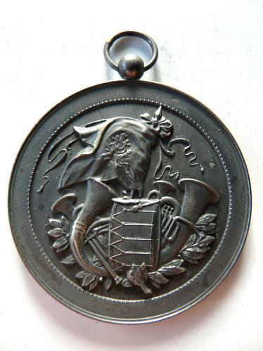 Hostert Luxemburg 1933 Medaille Fanfare Luxembourg musique Medal