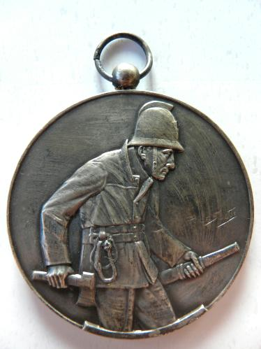 Pétange Luxembourg 1939 Sapeurs Pompiers Medaille Feuerwehr fire