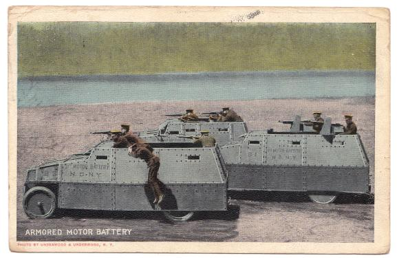 Armored Motor Battery Underwood 1921 Valentine New York U.S.A