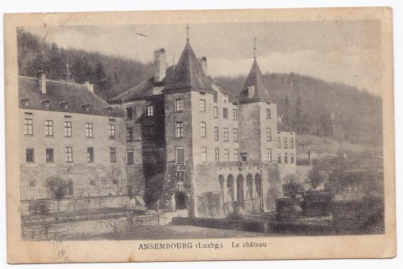 Ansembourg Aansebuerg Luxembourg 1925 Le château Luxemburg