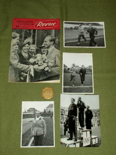 Luxembourg Barthel Josy Olympia 1952 Helsinki médaille photos Re