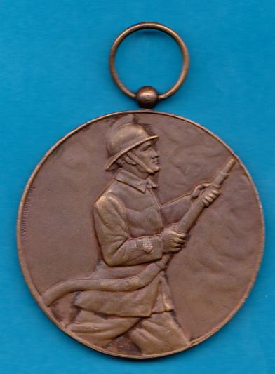 Koerich Luxembourg 1966 Medal Firefighters Sapeurs Pompiers Meda