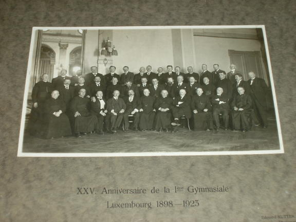 Luxembourg 1898 1923 25 Anniversaire Ière Gymnasiale Ed. Kutter