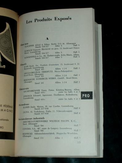 8 Foire internationale de Luxembourg 1956 Catalogue Officiel Lux
