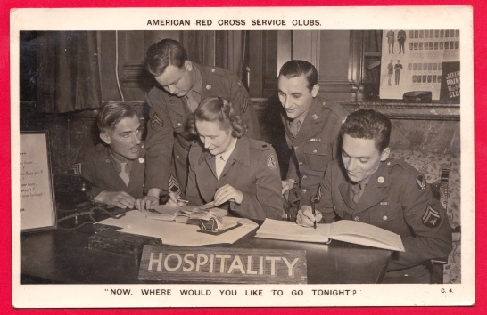 American Red Cross Service U.S. Armed Forces Hospitality Now whe