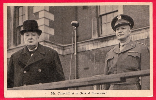 Mr. Churchill et le Général Eisenhower Tuck's Post Card Raphael