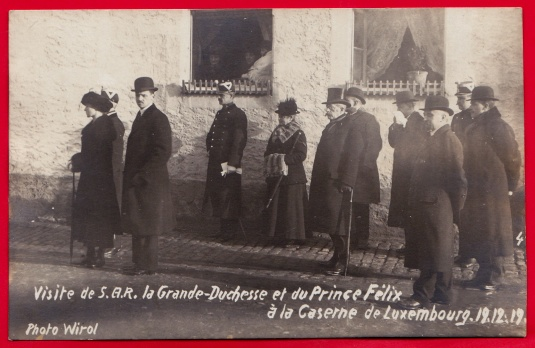 Visite Grande-Duchesse Prince Félix Caserne Luxembourg 1919 4