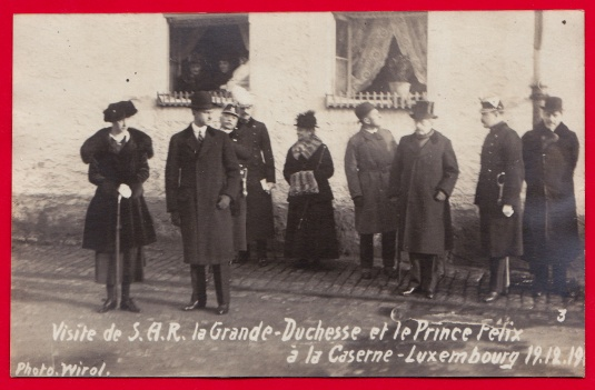 Visite Grande-Duchesse Prince Félix Caserne Luxembourg 1919 3
