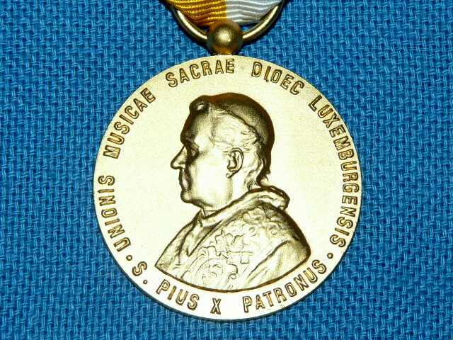 Medal Luxemburg Pius Saint-Pie X 35 years 1962 1978 duty sacral