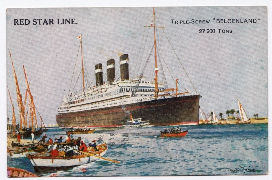 Belgenland World Cruise RED STAR LINE Triple Screw 27200 Tons