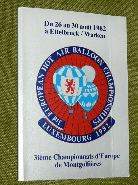 Championnats d'Europe Montgolfières Luxembourg 1982 Air Balloon