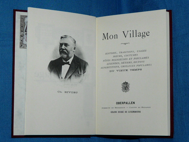 Oberpallen Mon Village 1902 Ch. Bivort Luxembourg REPRODUCTION