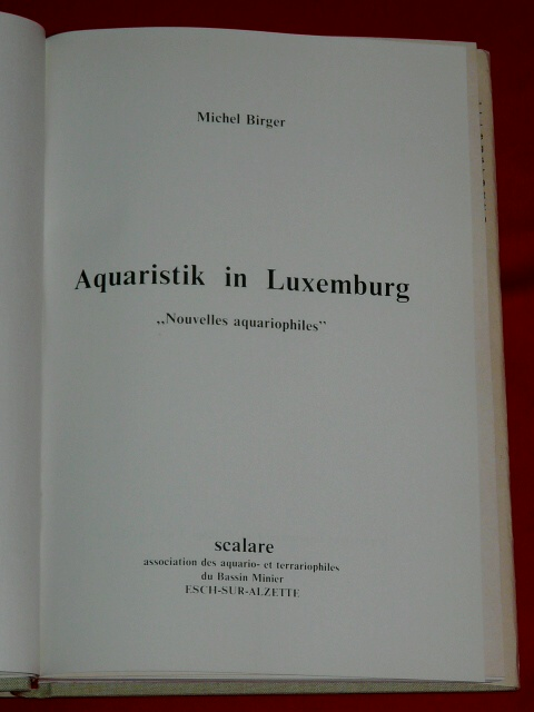 Aquaristik in Luxemburg Michel Birger 1979 Scalare aquario terra
