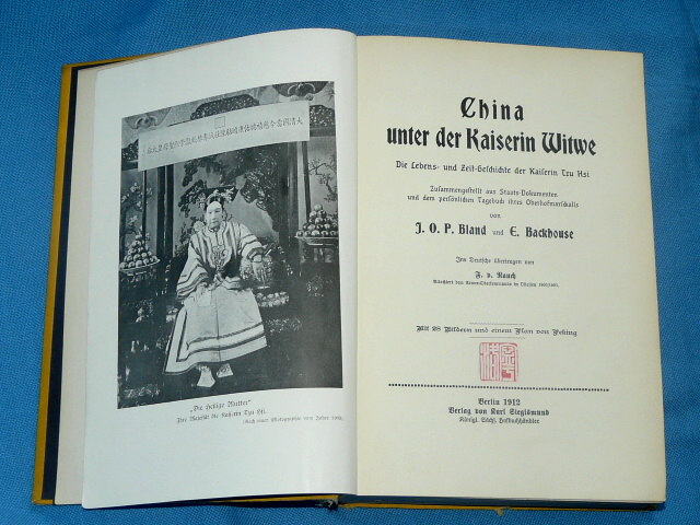 China unter Kaiserin Witwe 1912 Bland E. Backhouse Tzu Hsi
