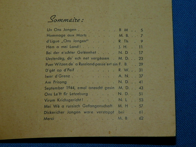 Ons Jongen am Krich Ligue Diekirch 1946 Luxembourg Luxemburg Dik