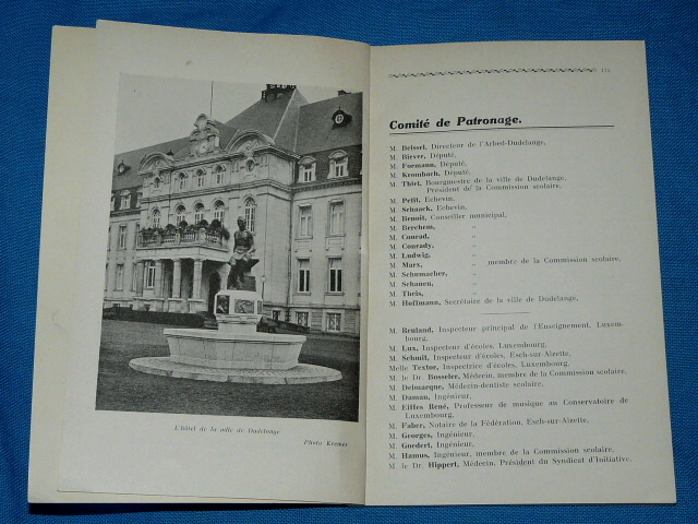 Journal des Instituteurs 1938 XVIIe Congrès National à Dudelange