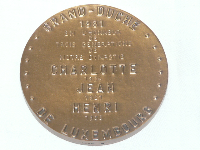Medal Three Generations Luxembourg 1981 Grand Duke Jean Henri